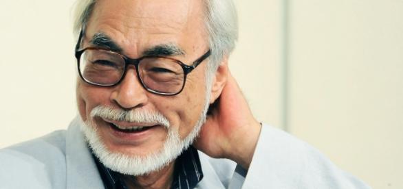 Imagem do diretor Miyazaki que completou 75 anos.