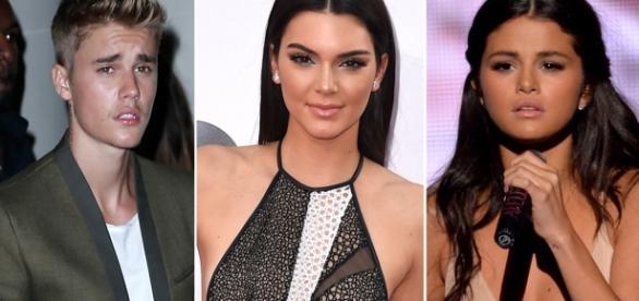 Justin Bieber, Kendall Jenner e Selena Gomez