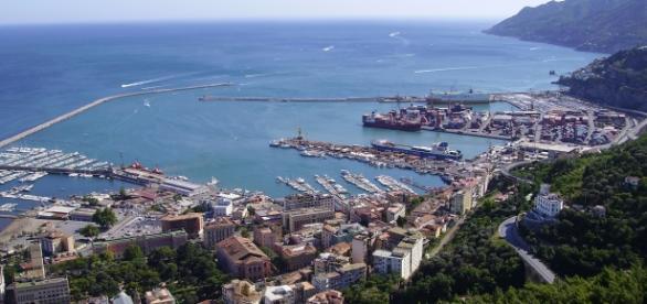 Panorama di Salerno dal Castello di Arechi