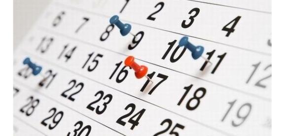 Serão nove feriados e cinco pontos facultativos.