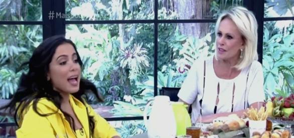 Anitta leva 'bronca' de Ana Maria