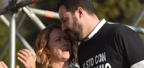 Meloni e Salvini della coalizione del centrodestra