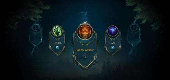 Imagen del nuevo sistema de selección de campeón