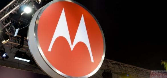 Logomarca da Motorola em stand