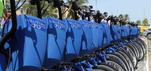 Estação de bicicletas compartilhadas