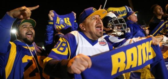 Fans de Los Ángeles Rams eufóricos