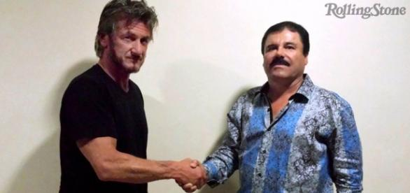 "Sean Penn y ""El Chapo"" Guzmán (Foto @RollingStone)"