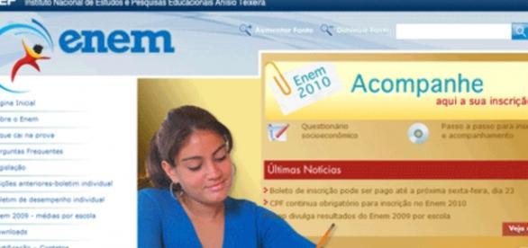 Site do Enem - Foto/Divulgação - MEC
