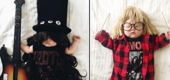 É incrível o que essa mãe consegue fazer com sua filha enquanto ela dorme