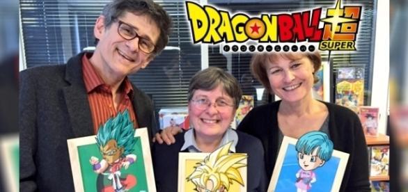Eric Legrand (Végéta, Yamcha...), Brigitte Lecordier (Goku et Gohan enfants, Goten...) et Céline Monsarrat (Bulma) !