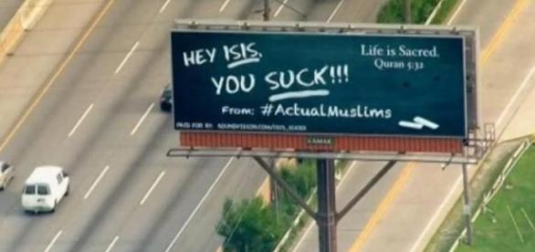 Werbeanzeige auf Amerikas Straßen