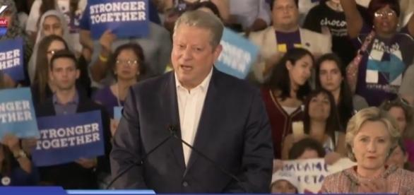 Al Gore stumps for Hillary Clinton at a climate rally in Miami. YouTube (FOX 10 Phoenix-screencap)