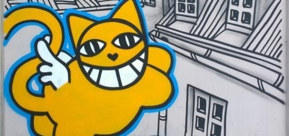 Le sourire gigantesque de Monsieur Chat sévit en France.