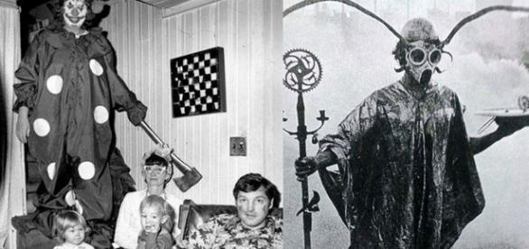 Algumas imagens parecem que saíram de filmes de terror