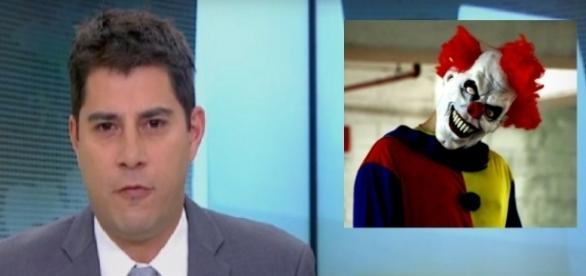 Evaristo Costa se irrita ao vivo