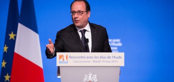 Francois Hollande à Caarcassone - opinion - CC BY