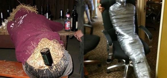 Imagens de pessoas que foram troladas enquanto estavam bêbados