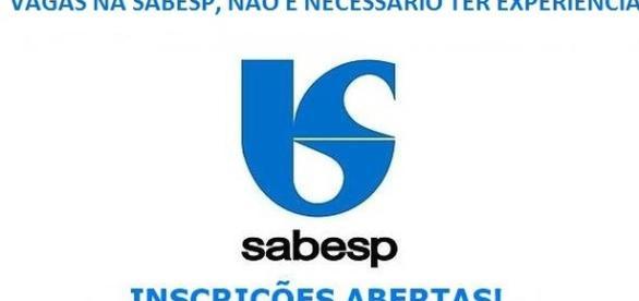 Inscrições estão abertas na Sabesp