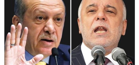 Recep Tayyip Erdoğan e Haydar al-'Abadi