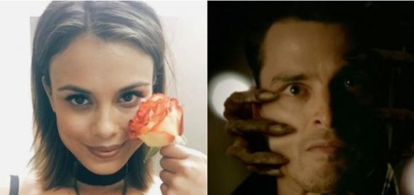 The Vampire Diaries: Nathalie Kelley (Sybil) / Enzo (Foto: Instagram e CW)