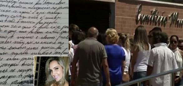 Carta do homem foi entregue pela jovem à sua mãe dias antes do homicídio