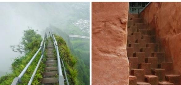 Conheça as 7 escadas mais bizarras do mundo.