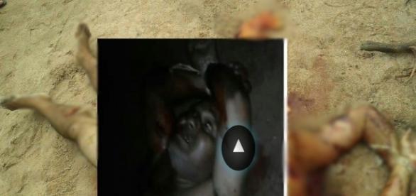 No vídeo aparece duas mulheres cometendo o crime.