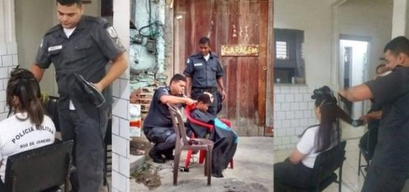 'O morro não deve viver só de tiro', disse o Policial cabeleireiro.