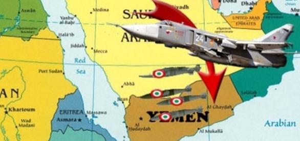 Bombe italiane lanciate in Yemen