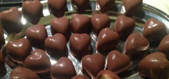 Cuoricini di Bounty cioccolato fondente e cocco
