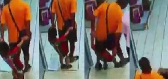 Pai cai acidentalmente em cima do filho, quebrando o pescoço da criança.