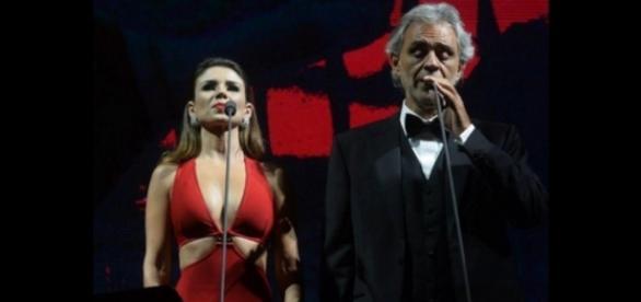 Paula Fernandes arruma desculpa por não ter conseguido cantar com Bocelli