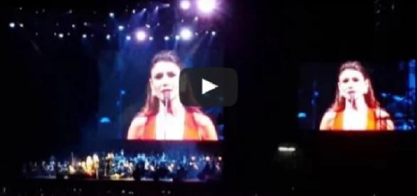 Paula Fernandes em show - Foto/Reprodução