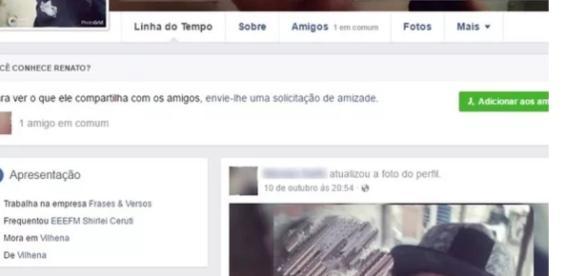 Rapaz corteja menina na internet, mas a assalta