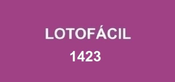 Resultado 1423 da Lotofácil anunciado nesta sexta
