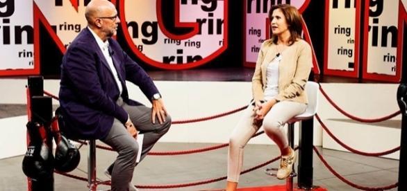 Simona Princiotta alla trasmissione Ring del 13 ottobre
