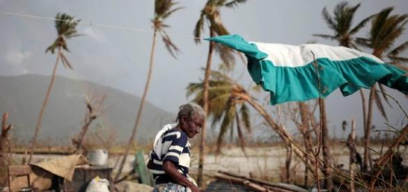Devastação no Haiti. Furacão Matthew.