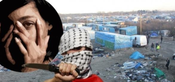 """O interpretă ca însoțea o echipă de filmare a fost violată în """"Jungla din Calais"""""""