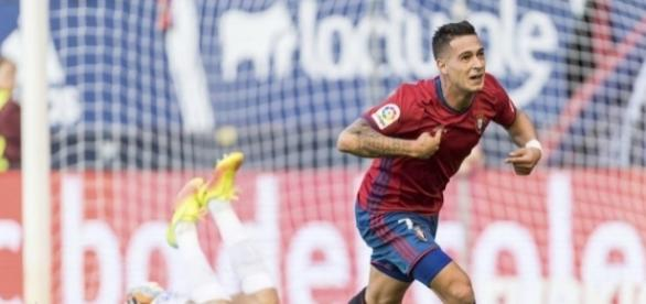 Sergio León celebra un gol ante Las Palmas