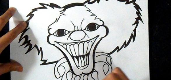 Aprenda a desenhar um palhaço do mal de forma fácil
