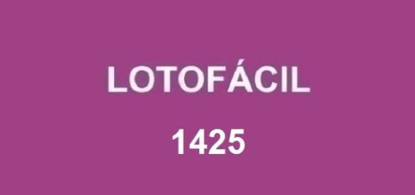 Divulgado o resultado 1425 da Lotofácil