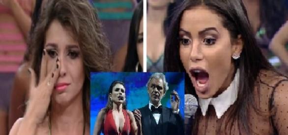 Foto montagem: soprano critica cantoras.