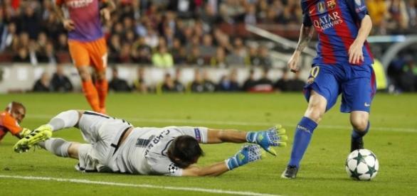 Messi, MVP del partido ante el Manchester City. Foto: John Sibley (Reuters)