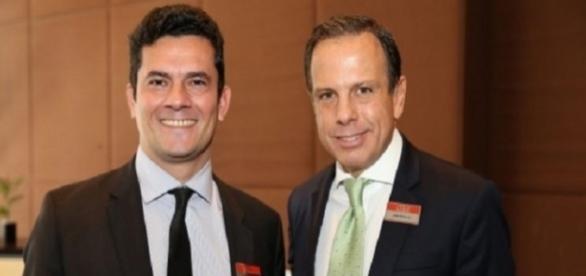 Novo prefeito de São Paulo, João Doria e o juiz, Sérgio Moro (Foto: Reprodução)