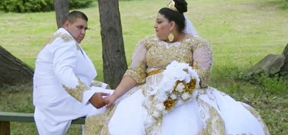 Os noivos em um dos ensaios que foram realizados.