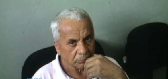 Aparecido confessou o crime e já possui ficha criminal (Foto: TV Record)