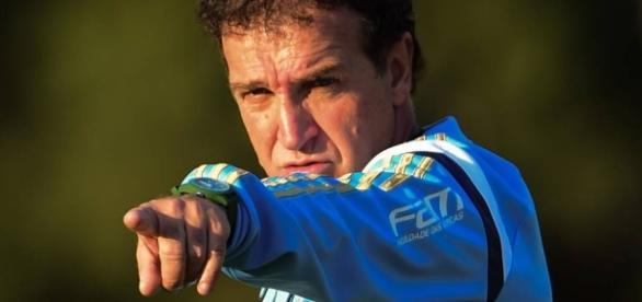 Cuca, técnico do Palmeiras, no CT