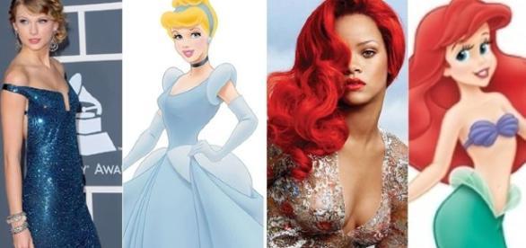 Essas famosas são muito parecidas com as princesas da Disney