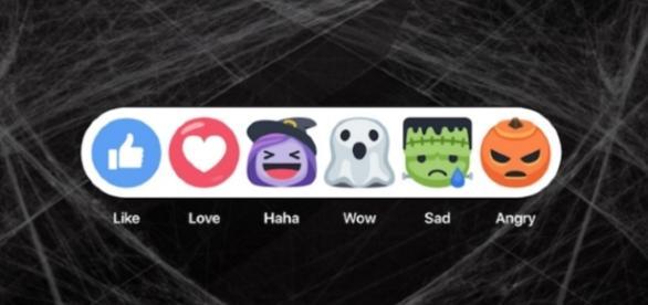 Facebook e os novos botões de reação no estilo halloween