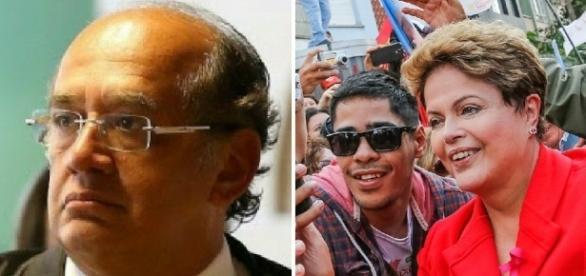 Gilmar Mendes aprova que Dilma seja multada (Foto: Reprodução